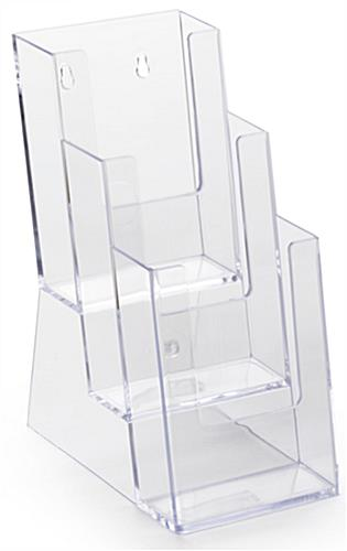 Molded Plastic Brochure Rack with 3 Pockets