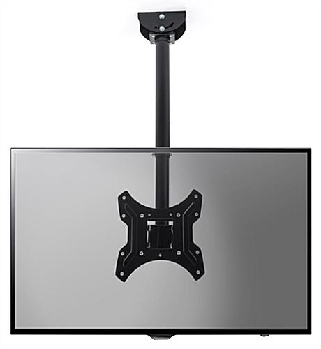 Landscape orientation ceiling TV mount with maximum weight capacity 77 lbs