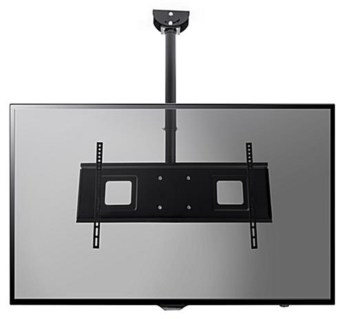 Hanging TV mount with landscape orientation and maximum 132 lbs weight capacity