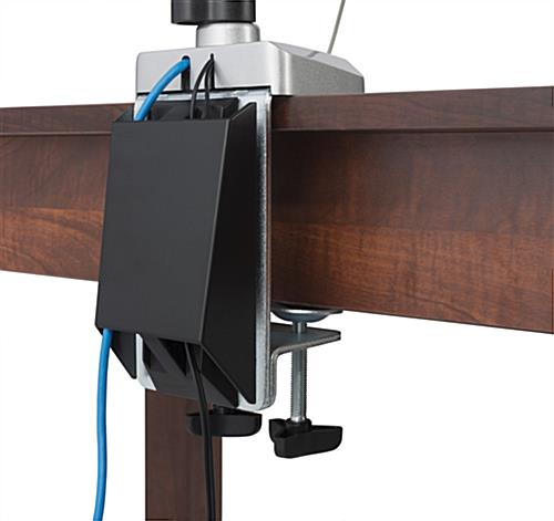 Triple Monitor Arm Cable Management System