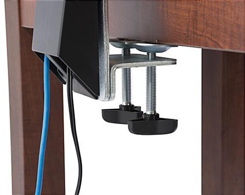 Triple Monitor Arm Desk Clamp