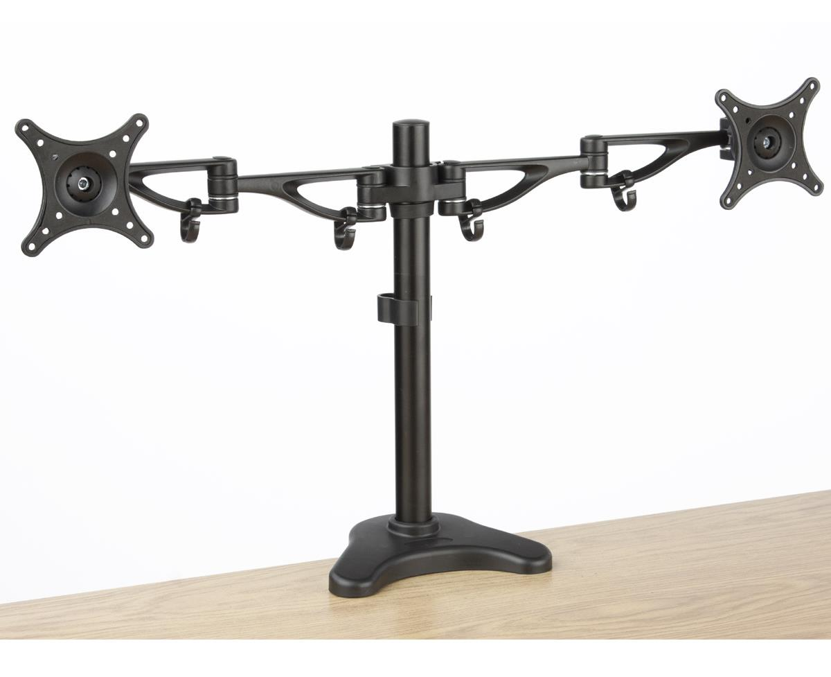 Dual Monitor Desk Mount Adjustable Bracket Arms