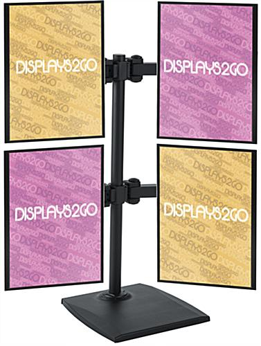 Horizontal or Vertical Mounting Quad Monitor Mount