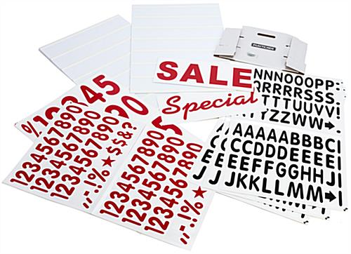 Portable Sign Board with Changeable Letters Kit Included