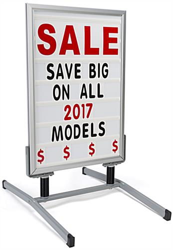 Silver Portable Sign Board with Changeable Letters