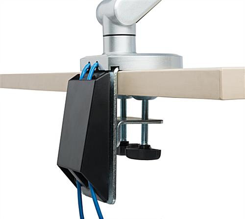 Desk Mount Monitor Arm With Keyboard Tray And Clamp Base