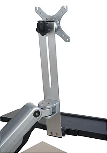 Height Adjustable Desk Mount Monitor Arm with Keyboard Tray