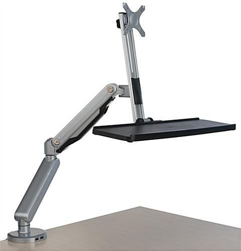Desk Mount Monitor Arm With Keyboard Tray And Vesa Bracket
