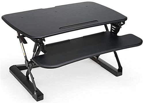 Computer Riser Standing Desk with Black Coating