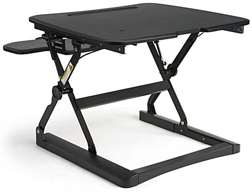 Keyboard Riser Standing Desk with Flat Back