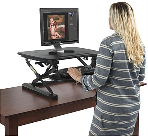 Keyboard Riser Standing Desk with Sturdy Base