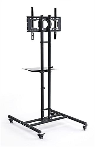 Mobile Tv Stand Black Floor Display With Shelf