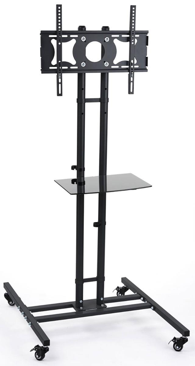 Displays2go TV Stand with Adjustable Shelf, Fits Monitors...
