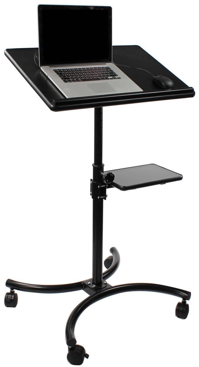 Displays2go Height Adjustable Laptop Stand, Stationary Sh...