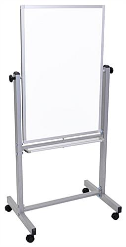 Movable Whiteboard with 4 Wheels