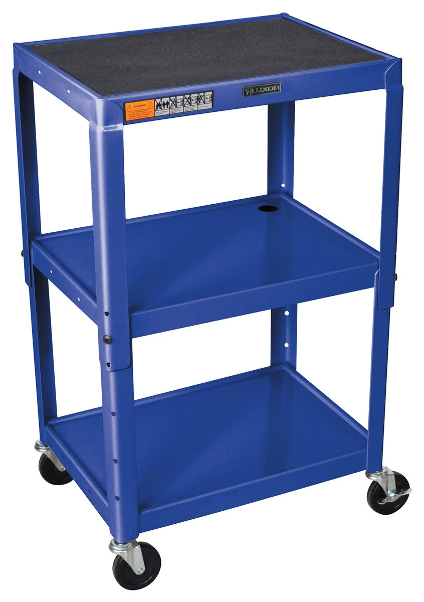 Mobile Shelf Cart For Utlity Use Features 3 Sturdy Shelves