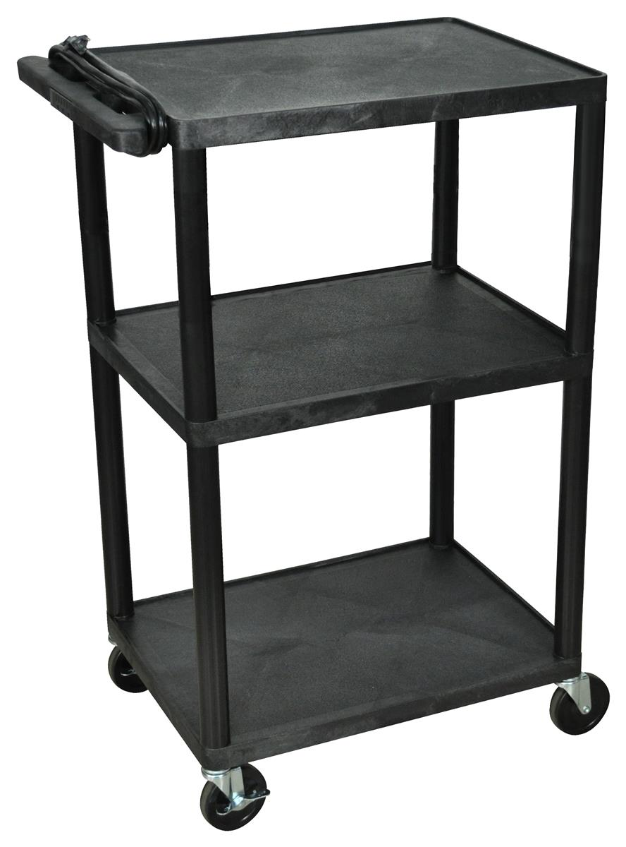 3 Shelf Cart W Durable Plastic Design