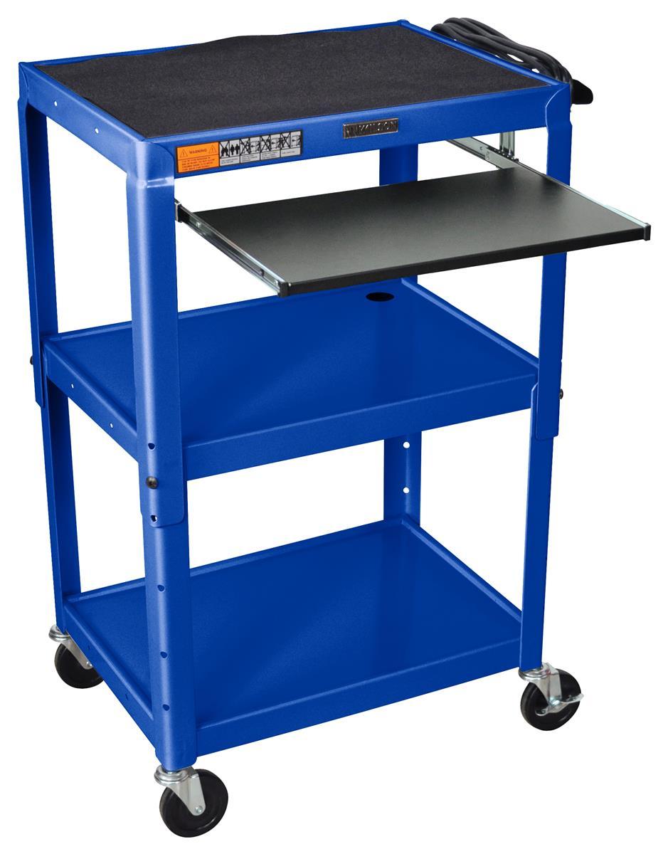 Av Cart W Shelf 4 Casters Amp Height Adjustable Design
