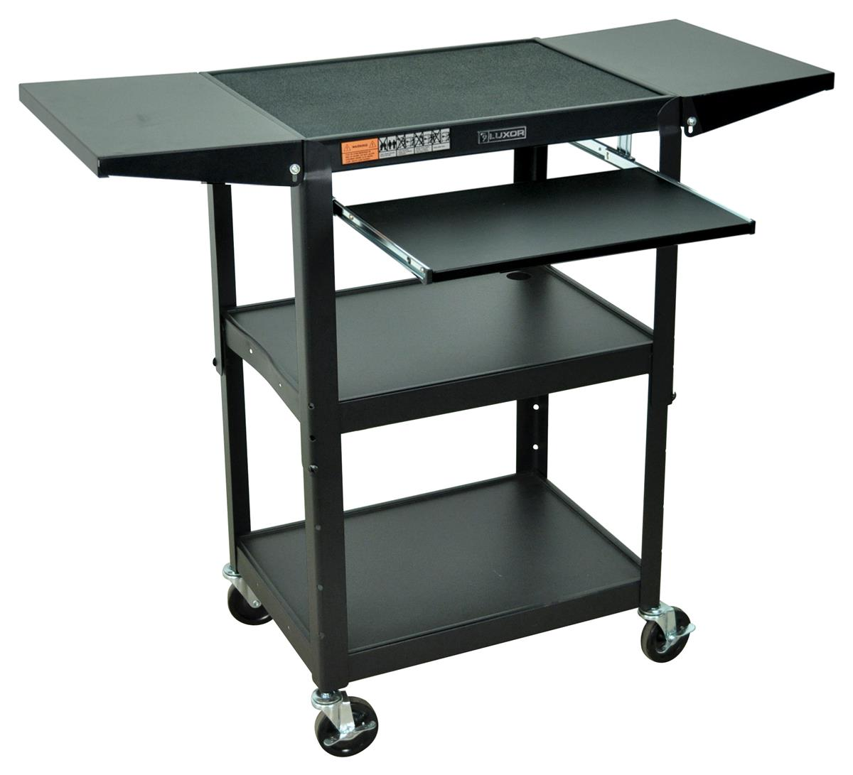 Av Carts For Multimedia Presentations Features Pull Out Shelf