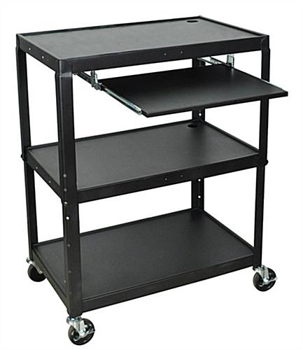 Multimedia Cart is Height Adjustable