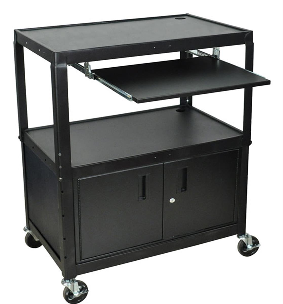 Locking Av Cabinet Audio Visual Trolleys Projector Carts With Locking Security Cabinets
