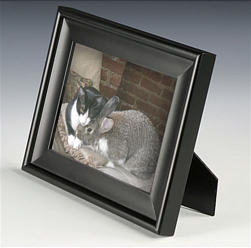 black wooden frame 5 x 7 photo mount. Black Bedroom Furniture Sets. Home Design Ideas