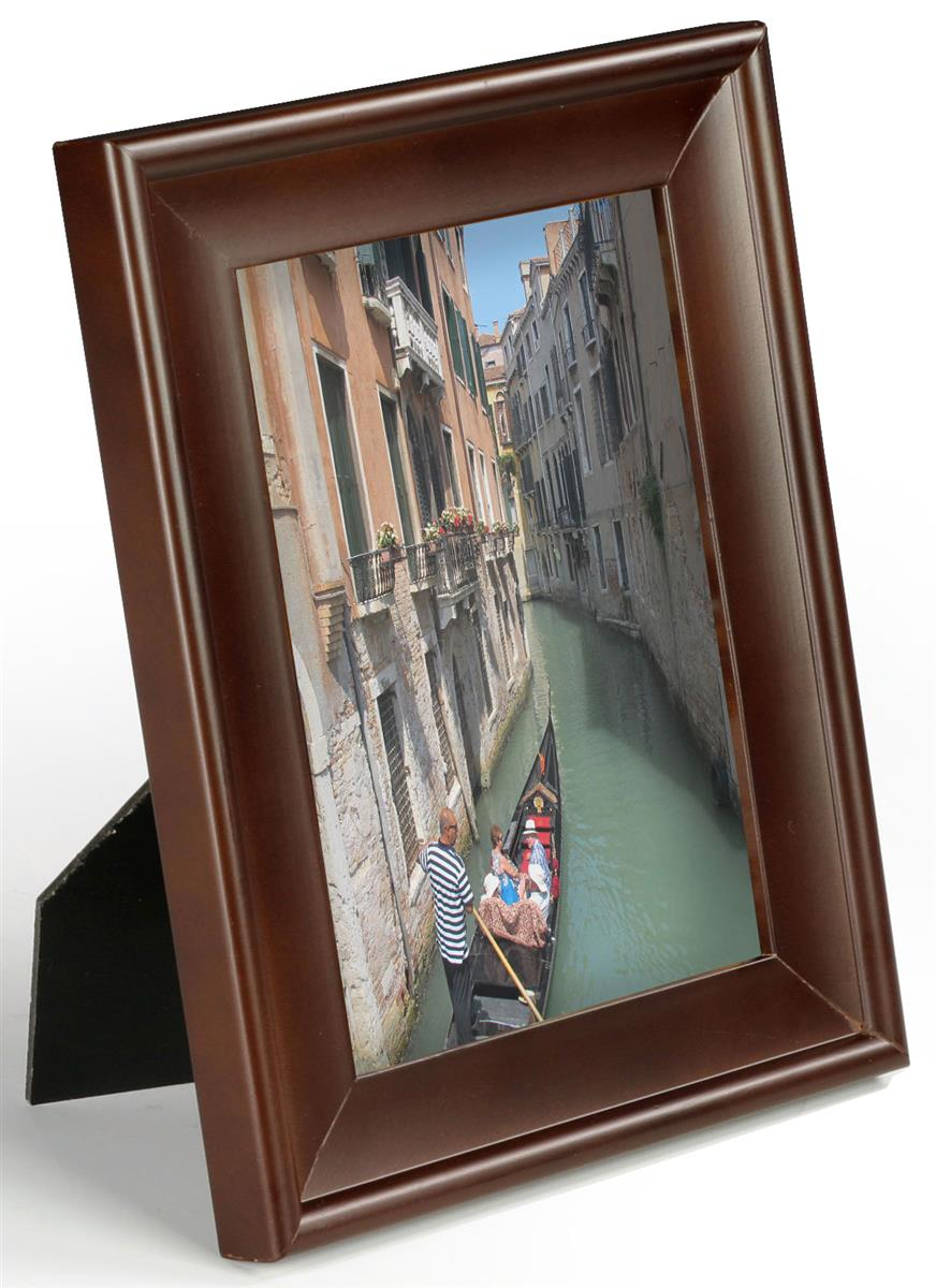 Contemporary Picture Frame 5 X 7 Walnut Photo Holder