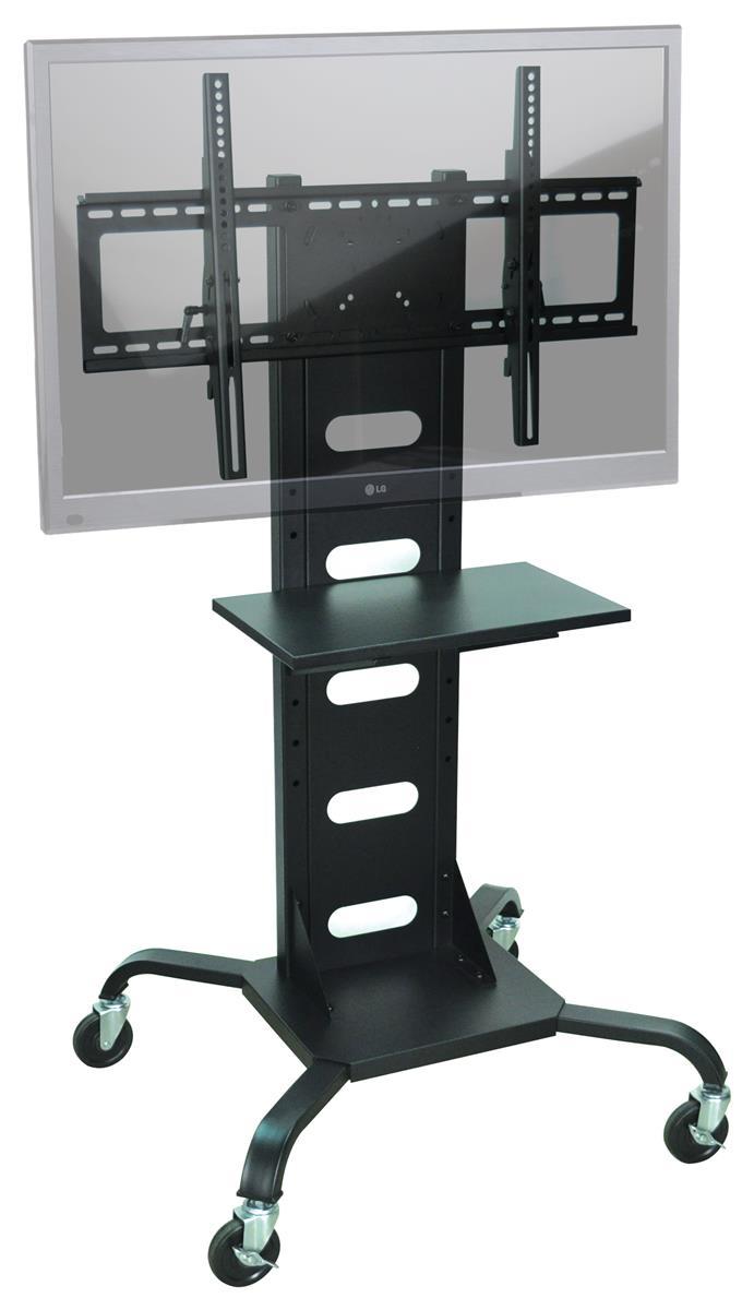 tv mount stand for 37 60 monitors w accessory shelf. Black Bedroom Furniture Sets. Home Design Ideas