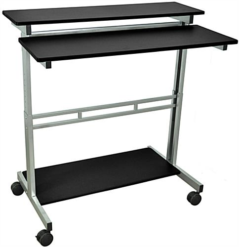 Height Adjustable Computer Desk, Steel Frame
