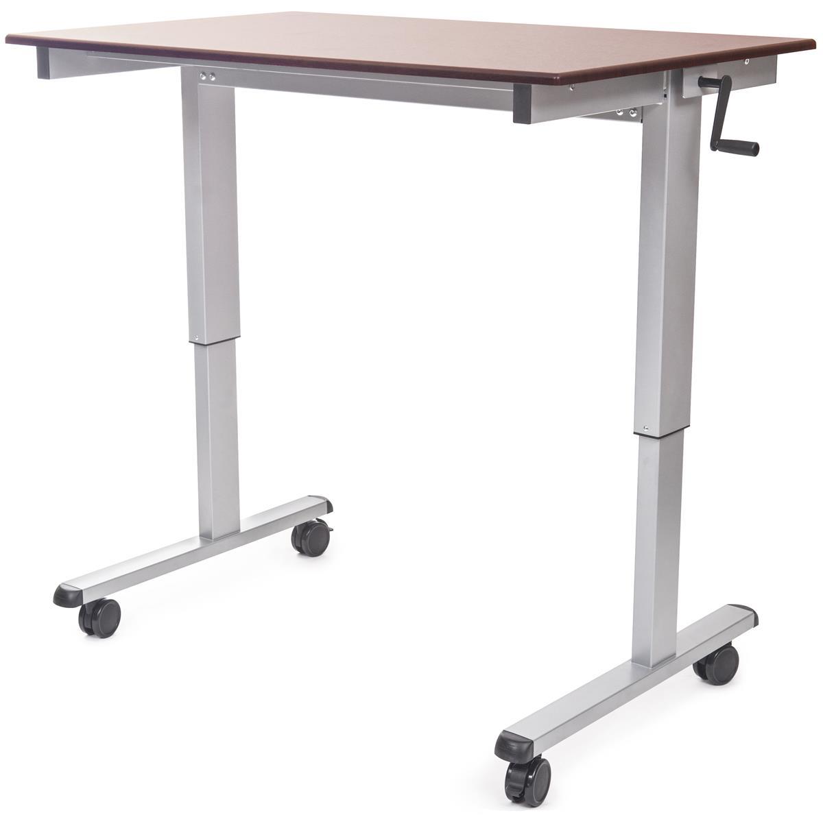 Crank Adjustable Desk Sit Or Stand Design