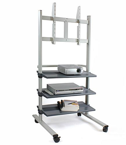 Tv Mobile Cart Bracket Fits 32 Quot To 74 Quot Monitors W Shelves
