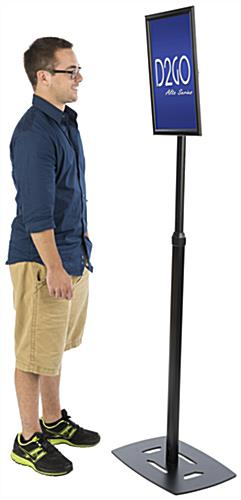 Black 11 x 17 Poster Frame Pedestal with Multiple Height Settings