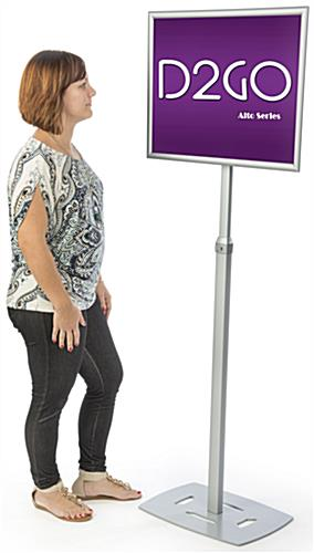 Silver 18 x 24 Poster Frame Pedestal Helps Create Brand Awareness