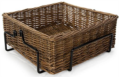 4 Level Basket Display with Metal Wire Shelves