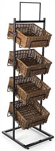 4 Level Basket Display with Black Frame