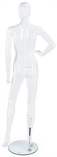 Gloss White Mannequin with Model Pose