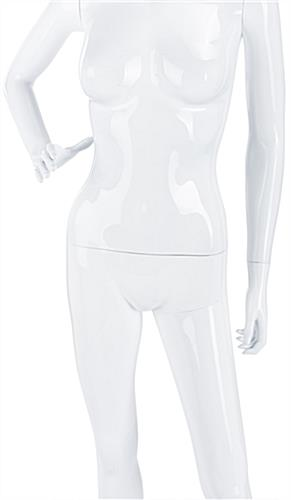 Gloss White Mannequin with Detachable Torso