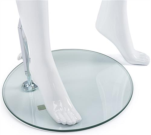 Gloss White Mannequin with Accented Feet
