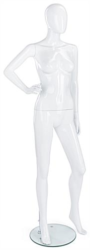 White Mannequin with Abstract Style Design