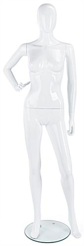 Gloss White Mannequin with Detachable Arms