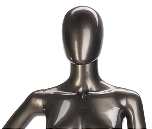Metallic Female Mannequin with Detachable Arms