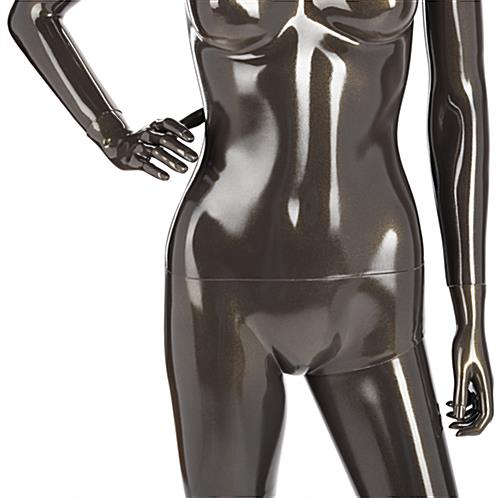 Metallic Female Mannequin with Detachable Torso