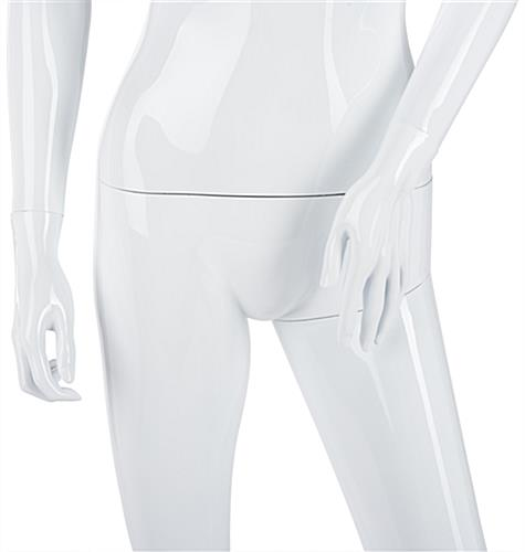 White Female Mannequin with Detachable Torso
