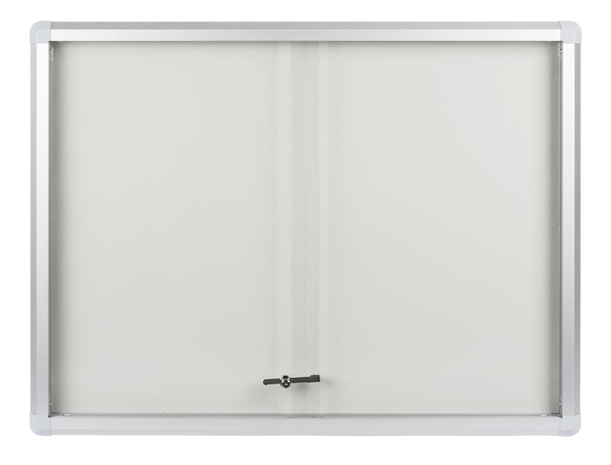Enclosed Magnetic Whiteboard Wall Mounted Aluminum Frame