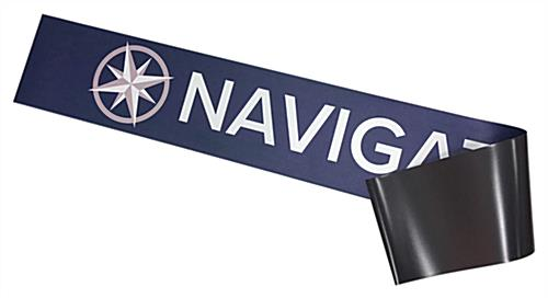 Full color front printed magnetic graphics for Navigator series tablet floor stands