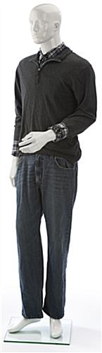 Poseable Male Mannequin with Semi-Abstract Features