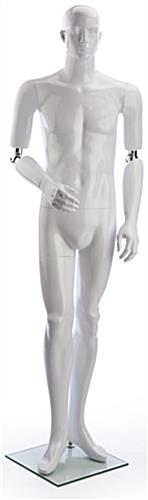 Poseable Male Mannequin with Flexible Elbow Joints