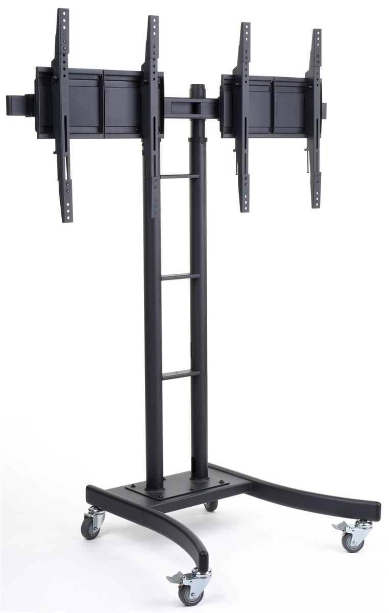 dual monitor stand tilt width adjusts that fits 32 65 scr