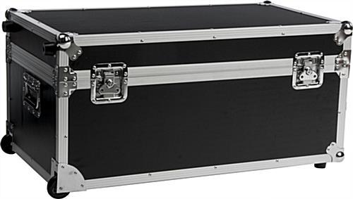 Rolling Av Equipment Cases Wheeled Wooden Transport Crates