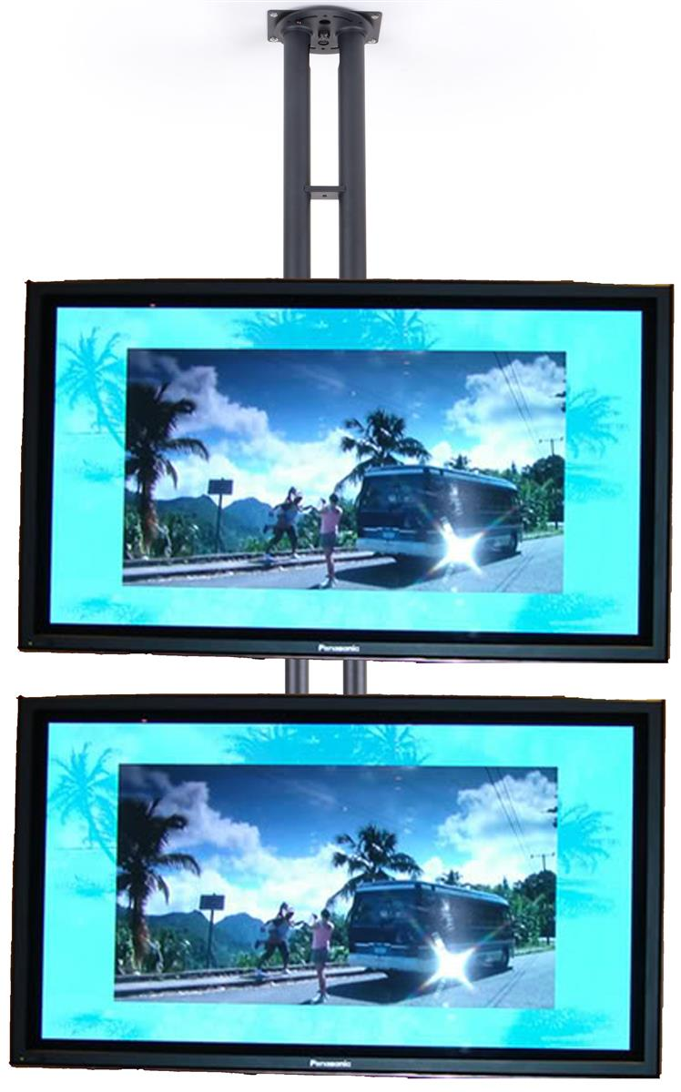 These Monitor Stands Accommodate Dual Flat Screen Tvs